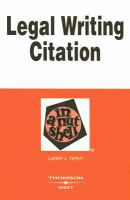 Legal Writing Citation in A Nutshell