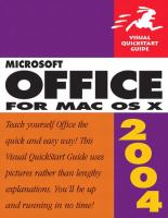 Microsoft Office 2004 for Mac OS X