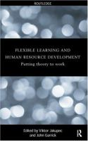 Flexible Learning, Human Resource, and Organisational Development