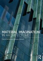 Material imagination in architecture cover