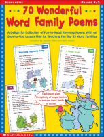 70 Wonderful Word Family Poems