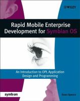 Rapid Mobile Enterprise Development for Symbian OS