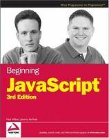 Beginning JavaScript, Third Edition