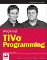 Beginning TiVo Programming