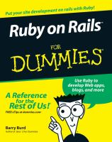 Ruby on Rails for Dummies