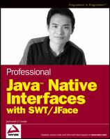 Professional Java Native Interfaces With SWT/JFace
