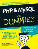 PHP & MySQL for Dummies, 3rd Edition