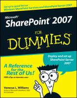 Microsoft SharePoint 2007 for Dummies