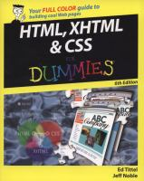 HTML, XHTML, and CSS for Dummies, 6th Edition
