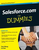 Salesforce.com for Dummies, 3rd Edition