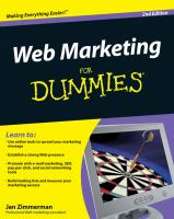 Web Marketing for Dummies, 2nd Edition