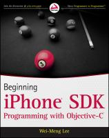 Beginning IPhone SDK Programming With Objective-C