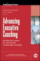 Advancing Executive Coaching