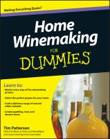 Home Winemaking for Dummies