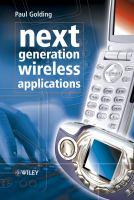 Next Generation Wireless Applications