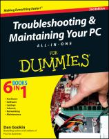 Troubleshooting & Maintaining your PC All-in-one for Dummies, 2nd Edition