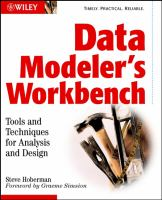 Data Modeler's Workbench