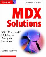 MDX Solutions With Microsoft SQL Server Analysis Services