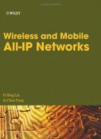 Wireless and Mobile All-IP Networks