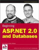 Beginning ASP.NET 2.0 and Databases