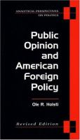 Public Opinion and American Foreign Policy