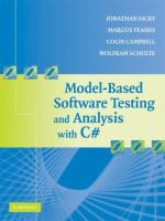 Model-based Software Testing and Analysis With C♯