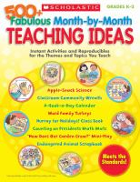 500+ Fabulous Month-by-month Teaching Ideas