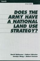 Does the Army Have A National Land Strategy?