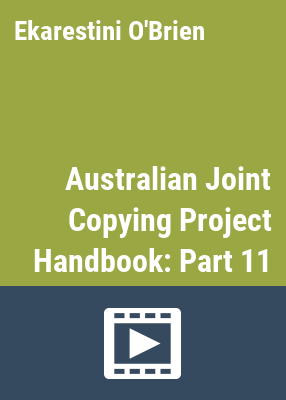 Australian joint copying project handbook / [National Library of Australia]