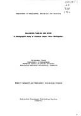 Balancing families and work : a demographic study of women's labour force participation / Christabel Young.