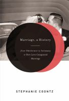 Cover of Marriage: A History