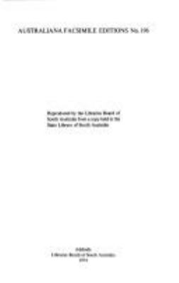 Experiences of a colonist forty years ago : a journey from Port Phillip to South Australia in 1839, and a voyage from Port Phillip to Adelaide in 1846 / by an old hand.