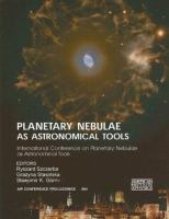 Planetary nebulae as astronomical tools : International Conference on Planetary Nebulae as Astronomical Tools, Gdańsk, Poland, 28 June-2 July 2005 cover