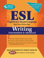 ESL, English as A Second Language