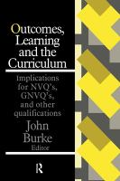 Outcomes, Learning, and the Curriculum