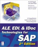 ALE, EDI & IDoc Technologies for SAP