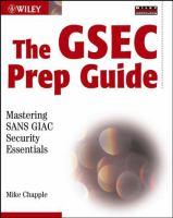 The GSEC Prep Guide