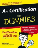A+ Certification for Dummies, 3rd Edition