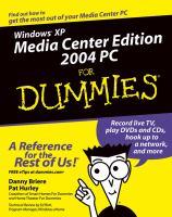 Windows XP Media Center Edition 2004 PC for Dummies