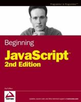 Beginning JavaScript, Second Edition