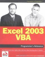 Excel 2003 VBA Programmer's Reference