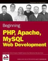 Beginning PHP, Apache, MySQL Web Development