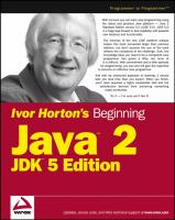 Ivor Horton's Beginning Java 2, JDK 5 Edition