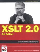 XSLT 2.0 Programmer's Reference, Third Edition