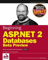 Beginning ASP.NET 2.0 Databases Beta Preview