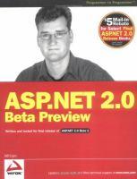 ASP.NET 2.0 Beta Preview
