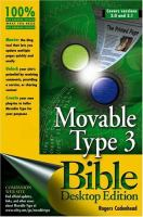 Movable Type 3.0 Bible, Desktop Edition