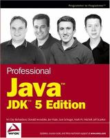 Professional Java, JDK 5 Edition