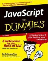JavaScript for Dummies, 4th Edition