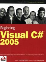 Beginning Visual C# 2005